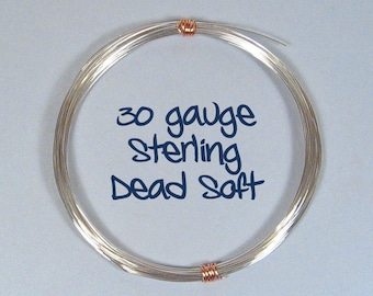 Sterling Silver Wire - 30ga DS - Choose Your Length