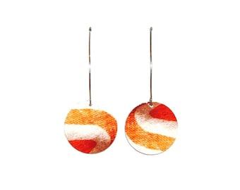 Earrings clips Orange