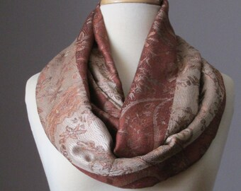 Toast brown scarf, drapable and huggable, luxe feeling scarf, wardrobe essentials