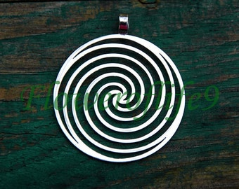 Spiral pendant (1 3/8) - Stainless Steel