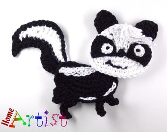 Crochet Applique Skunk