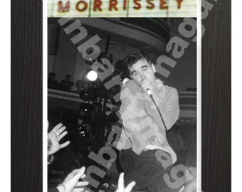 Morrissey in Hanley, Original Art Print from Photograph, Wall Decor, Anniversary, Birthday Gift, Decorative Black and White, Music Fans