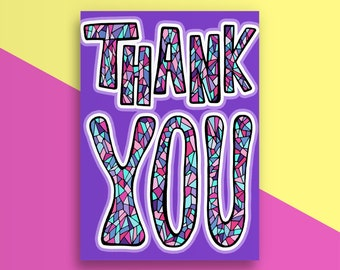 CLEARANCE Thank You (Purple)