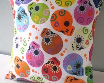 Calaveras Day of the Dead sugar skull Pillow Cover