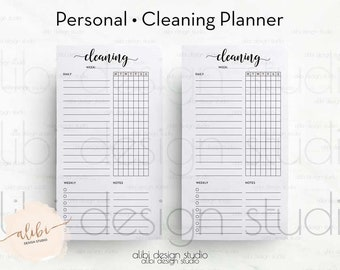 Cleaning Planner, Personal Planner, Cleaning Schedule, Printable Planner, Cleaning Checklist, Cleaning Printable, Personal Inserts, To Do