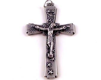 Crowns, Roses and Stars Rosary Crucifix Italy | Italian Rosary Parts