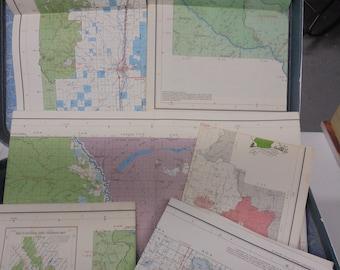 Vintage Maps- set ONE