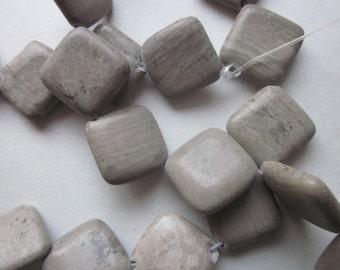 Cream Marble Beads 18x18mm 14 Beads