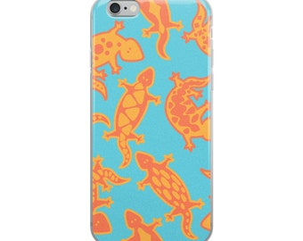 aztec lizards iPhone Case