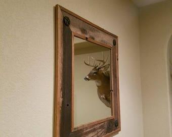 Rustic Framed Mirror