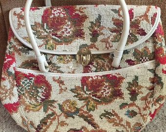 Oversized carpet handbag