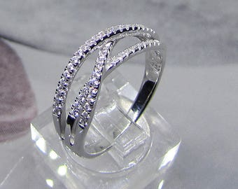 Ring in 925/1000 sterling silver with oxide of Zirconium size 56