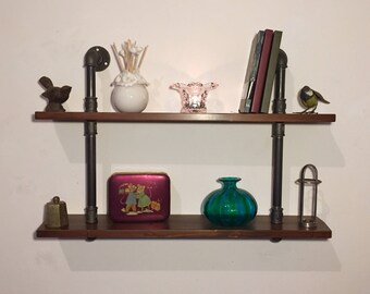 Vintage Industrial style shelf/shelving in hydraulic tubes