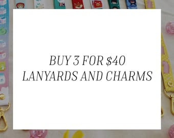 COMBO SPECIAL : Lanyards and Charms