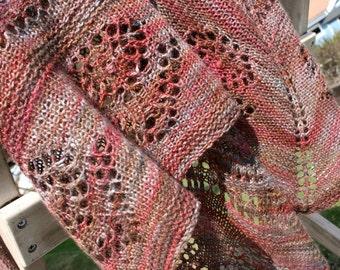 Lace Triangle Shawl Pattern - Knitting Shawl Pattern PDF, in 2 sizes, / Aunt Azura Shawl Pattern