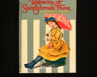 Vintage, 1960's (copyright 1960). Rebecca of Sunnybrook Farm by Kate Douglas Wiggin. Illustrated by Sari. Whitman Publishing Company.