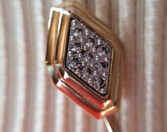 Vintage Avon New in Box Goldtone Pave Stickpin