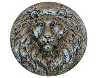 Vintage Lion Medallion, X Large