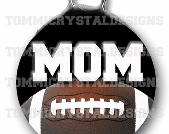 """1.5"""" Football MOM Soldered Art Collage Charm (also comes with no wording)"""