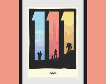 """Fallout 4 """"111"""" A3 print"""