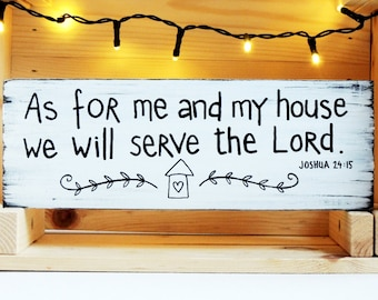 Bible verse wall art, Wood signs sayings, Christian gifts, Christian wall art, Christian home decor, As for me and my house we will serve