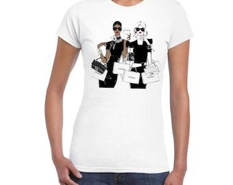 Shopping From Paris Artistic DTG Printed Ladies Junior Fit T-shirt..!