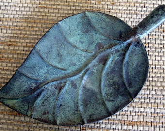 Decorative Metal Leaf Tray for Display, Smallest, not for food use