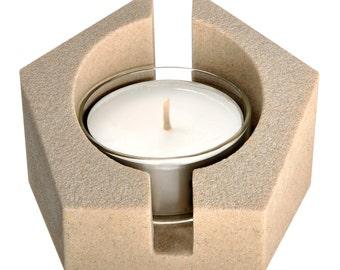 Teelichthalter-Pentagramm