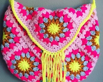 Ratschebohohippiebag crochet bag Crochetbag hippie bag Bohotasche