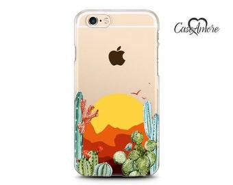 Clear iPhone X case, iPhone 7 Plus case, iPhone 7 case, iPhone 6 Plus case, iPhone 6, iPhone 6s case, Clear Galaxy S8 case, Cactus case