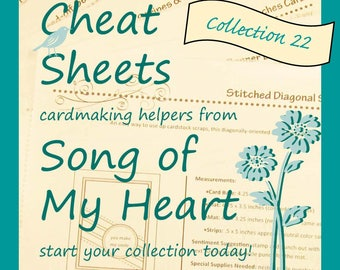 Cheat Sheets #22 Collection: Instant Digital Download cardmaking helpers for crafters and stampers