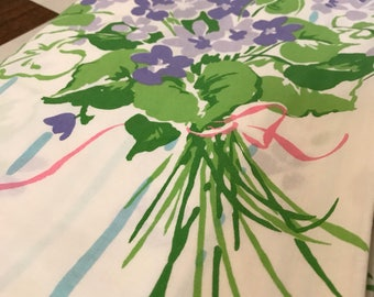 Vintage Setevens Utica Floral Twin Flat Sheet