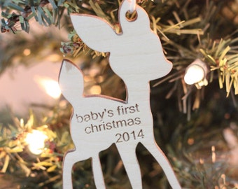 Little Deer baby's first Christmas ornament