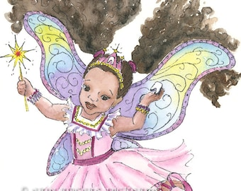 Multicultural Tooth Fairy 8x10 Art Print