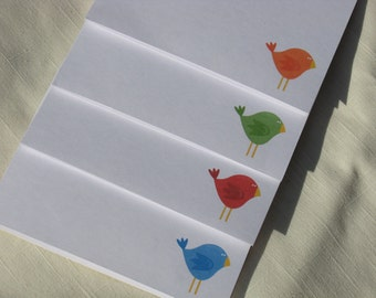 Bird Note Cards -  Colorful Bird Greeting Cards - Set of 8