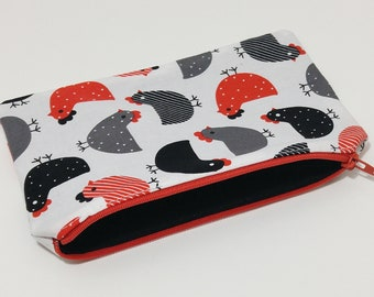 Hen Party Novelty Zipper Pouch - makeup bag; pencil case; gift for her; cosmetic bag; carry all; gadget case;