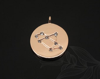 S1134-20pcs-Pink Gold Plated-Sagittarius