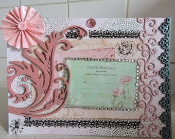 """Card all occasions, entitled """"Rose like arabesque... """""""