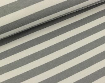 Cotton-striped-sweat light gray-grey (19.80 EUR/meter)