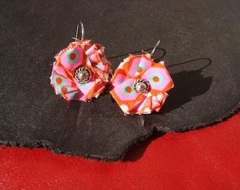 fantasy flower earrings