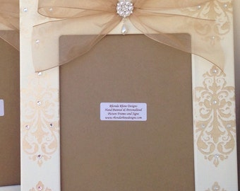 Champagne and White 8x10 Wedding Frame