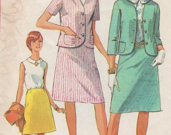 Bust 36-1966 Misses' Jacket, Skirt and Blouse Simplicity 6549 Size 16