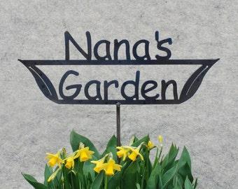 SHIP NOW - Nana's Garden Sign - Metal outdoor sign