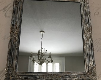 Ornate hand painted mirror