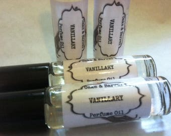 Vanillary Perfume Oil. 10 ml Roll On Bottle. Lush Type.