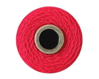 Red Bakers Twine - Solid Maraschino - 240 Yard Spool