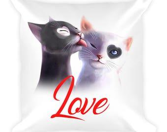 Cat Love Pillow - Cat decorative Pillow - Cat Lover Gift - Pet Pillow - Cat decorative pillow - Cat lover pillow - Cat gift - cat