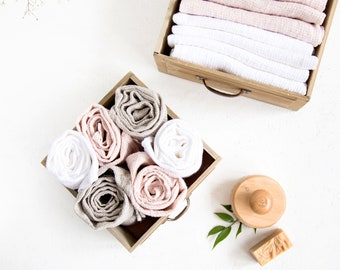 Linen SPA towels made of waffle linen perfect as bath towels or travel towels