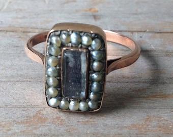 Antique Rose Gold Mourning Ring
