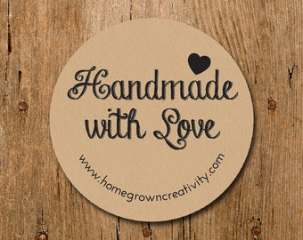 Customized Stickers -Handmade with Love Custom Stickers - Labels - Wedding - Birthday Party - Thank You Stickers